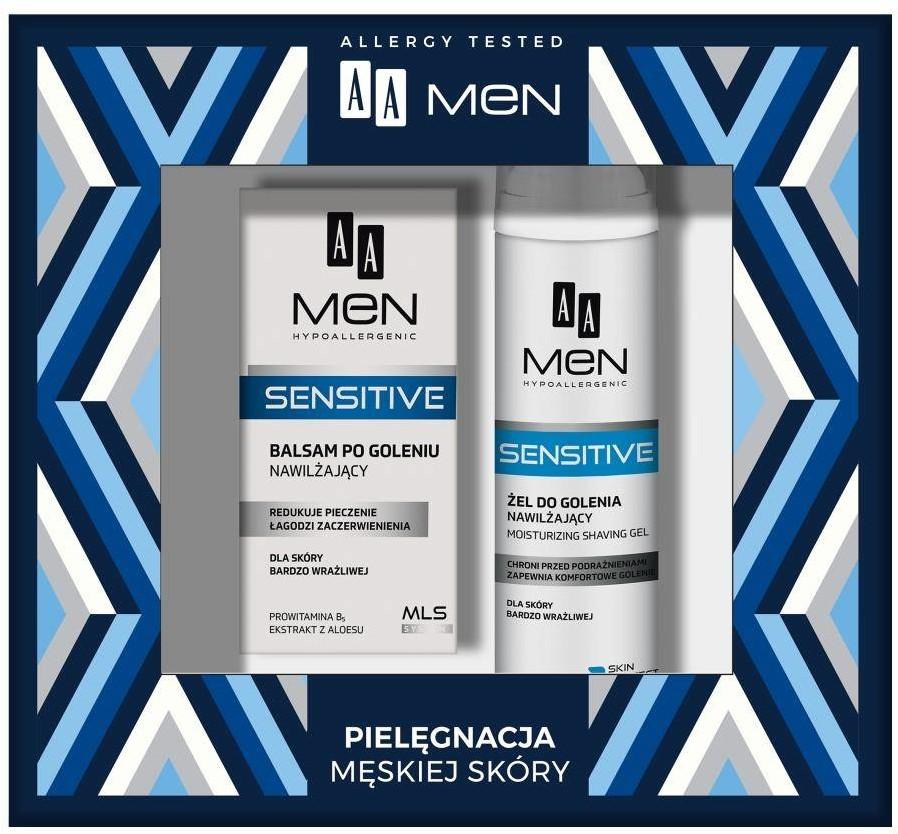 AA AA Men Sensitive zestaw żel do golenia 200ml + balsam po goleniu 100ml 92059-uniw