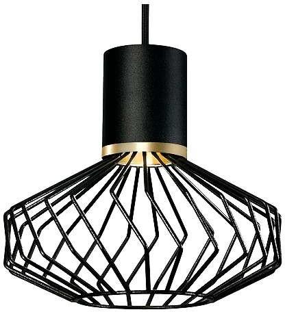 Nowodvorski LAMPA wisząca PICO 8862 industrialna OPRAWA metalowy ZWIS druciany czarna 8862