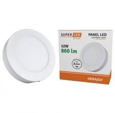 S-LED Panel LED S-L 12W + zasilacz, okrągły, natynkowy, barwa biała neutralna 26211
