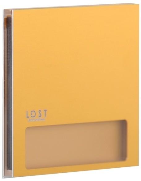 LDST LDST AL-01-SZ-BC5 - LED Oświetenie schodowe ALEX LED/1,2W/230V złoty 3500K