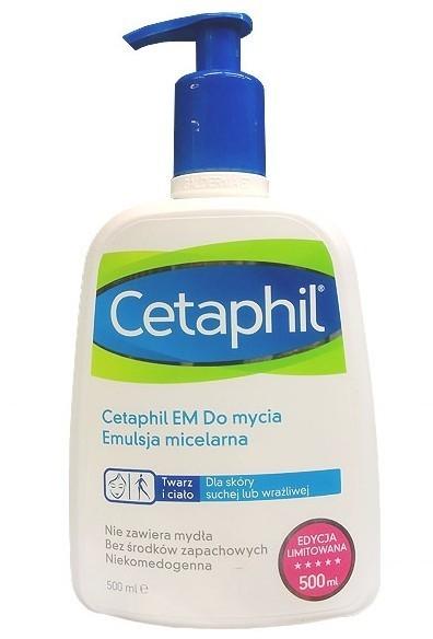 Cetaphil GALDERMA POLSKA SP Z O.O EM emulsja micelarna do mycia z pompką 500 ml 7072497