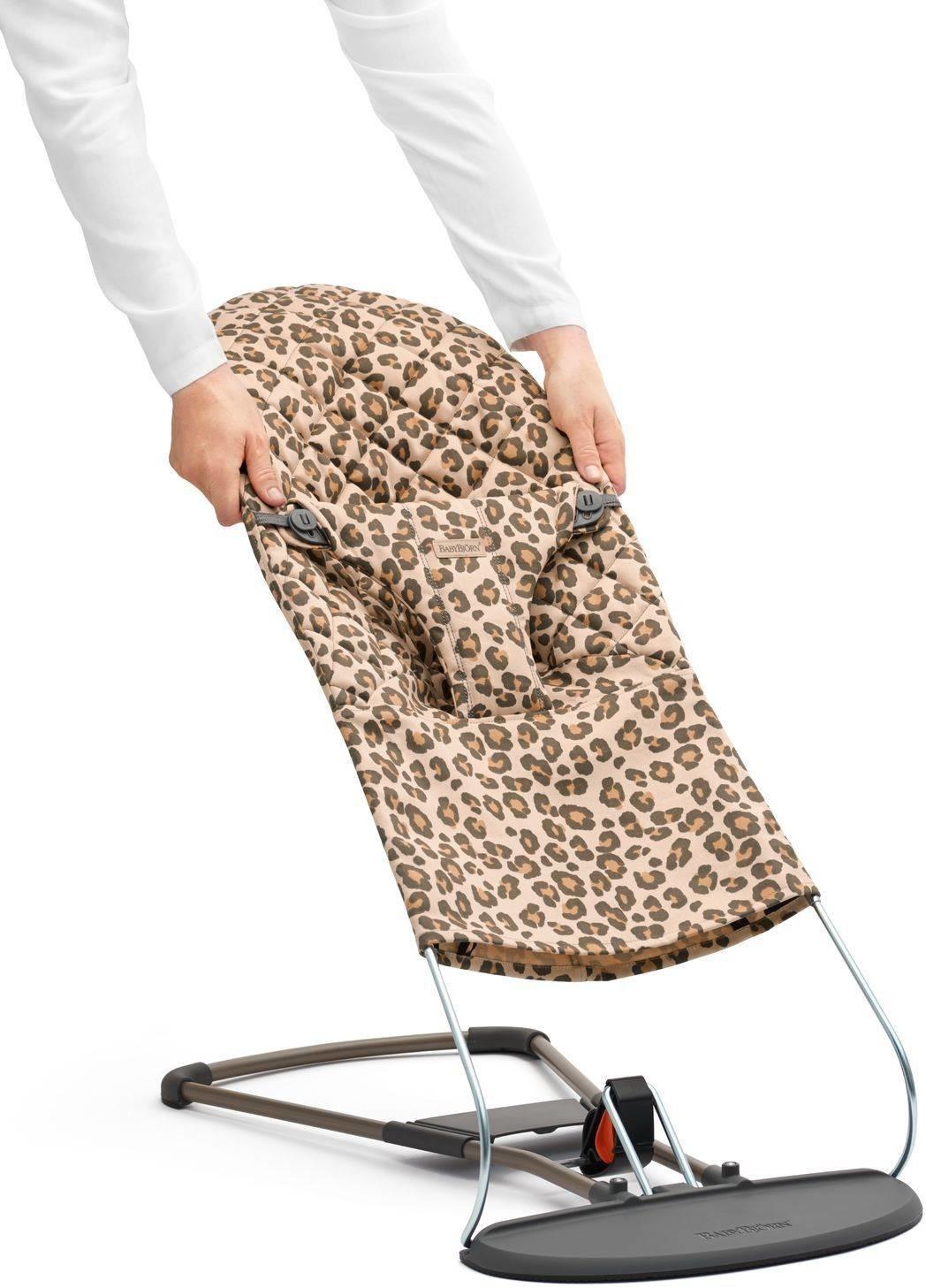 BABYBJORN poszycie do leżaczka Balance Bliss Beż/Leopard, Cotton scandinavian-baby-9387-0