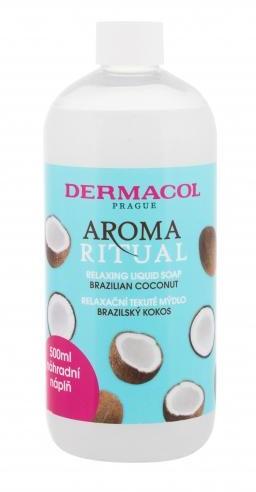 Dermacol Aroma Ritual Brazilian Coconut mydło w płynie Napełnienie 500 ml dla kobiet