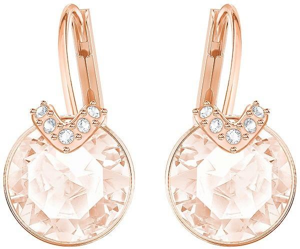 Swarovski Bella V Pierced Earrings, Pink, Rose gold plating Pink Rose gold-plated