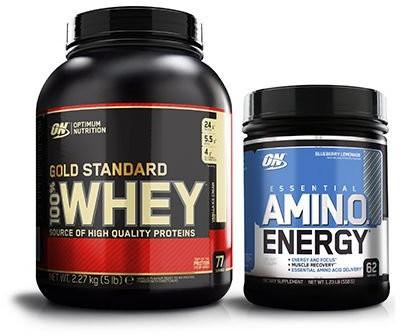 Optimum NUTRITION Whey Gold Standard 2270g + Amino Energy 558g