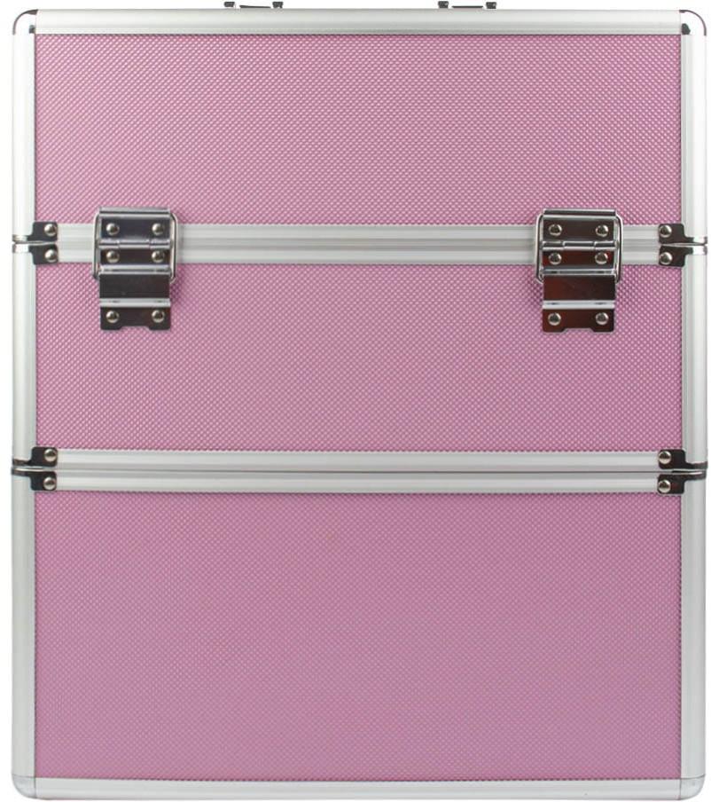 Vanity Kuferek Kosmetyczny Xxl Dwuczęściowy Różowy Premium M-3n Bez Kratki I Bez Paska 5904594695220