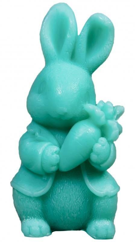 LaQ Happy Soaps Zielony Królik z Marchewką naturalne mydło glicerynowe Owocowe 30g 98102-uniw