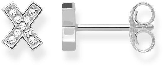 Thomas Sabo damskie kolczyki na sztyfcie h195105114srebro wysokiej próby cyrkonia biały kolor srebrny, biały H1951-051-14