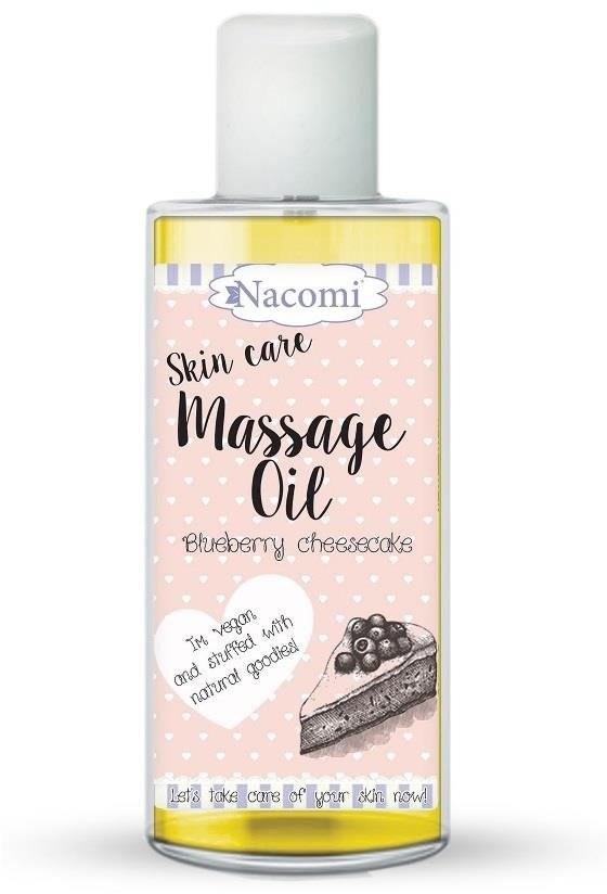 Nacomi Massage Oil olejek do masażu Blueberry Cheesecake 150ml