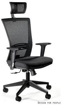 Unique Fotel biurowy ERGONIC czarny 1506H)  1506H
