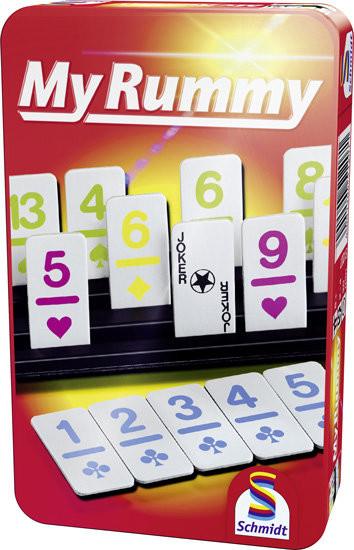 Schmidt Spiele Spiele, gra strategiczna Rummy, wersja podróżna