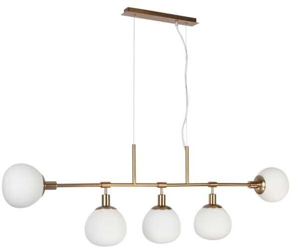 Maytoni LAMPA wisząca ERICH MOD221-PL-05-G Maytoni modernistyczna OPRAWA zwis listwa kule balls złota białe MOD221-PL-05-G