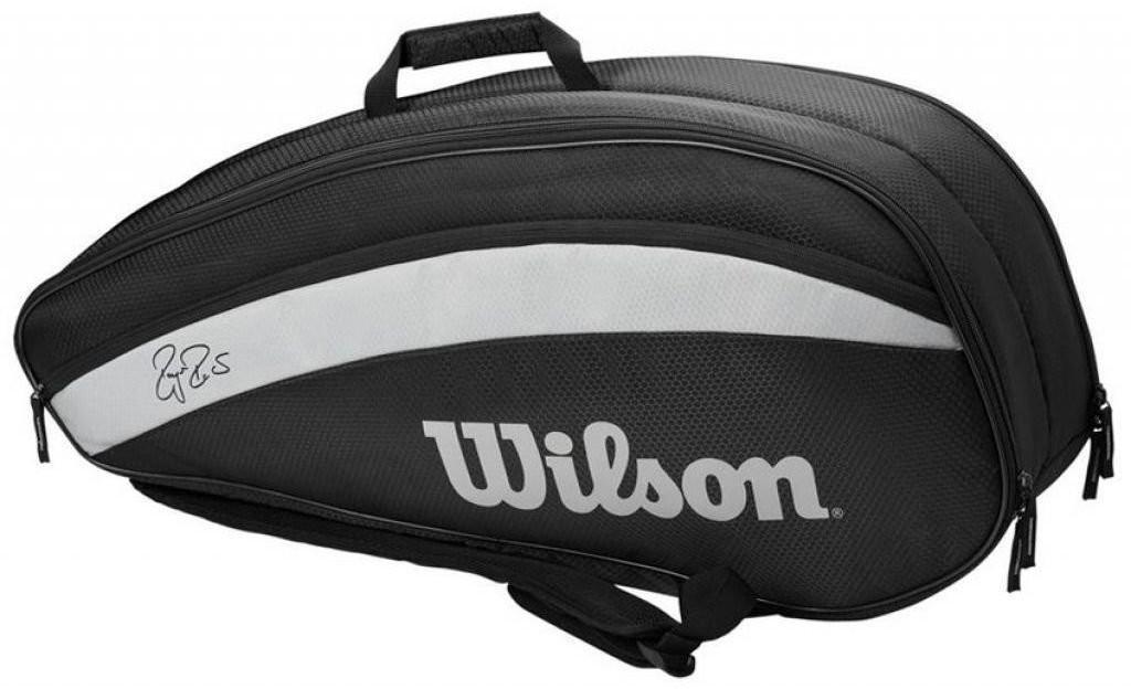 Wilson Roger Federer Team Racket Bag 6 Black