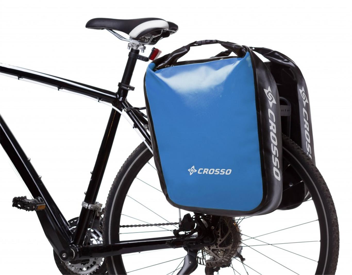 Crosso Sakwy rowerowe Dry Big 60 l Adventure jasny niebieski 5901619642221