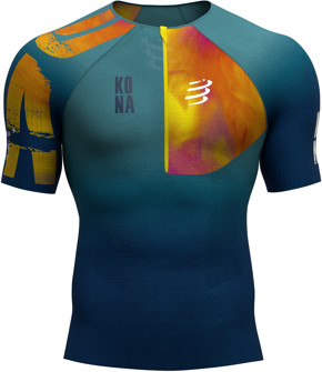 CompresSport Triathlonowa koszulka kompresyjna TRIATHLON POSTURAL AERO SS TOP - KONA 2019 niebieska