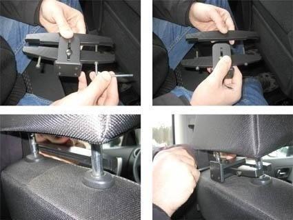 Brodit Uchwyt pasywny z systemem mocowania do zagłówka samochodowego do Apple iPad Mini 4