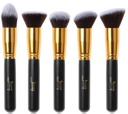 Jessup Jessup Brushes Set T061 Zestaw 5 pędzli do makijażu Black/Gold 39985-uniw