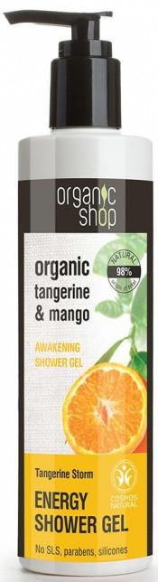 Organic SHOP (kosmetyki) ŻEL POD PRYSZNIC ORZEŹWIAJĄCY MANDARYNKOWA BURZA ECO 280 ml - SHOP