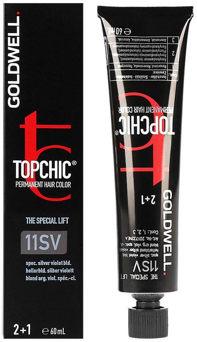 Goldwell Topchic, farba do włosów, 11SV Special Silver Violet Blonde, 60 ml