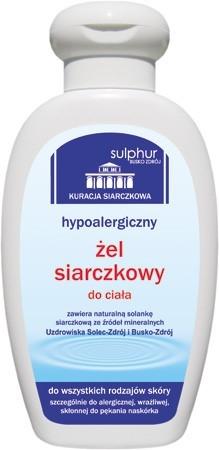 Sulphur Zdrój ŻEL SIARCZKOWY HYPOALERGICZNY 200G