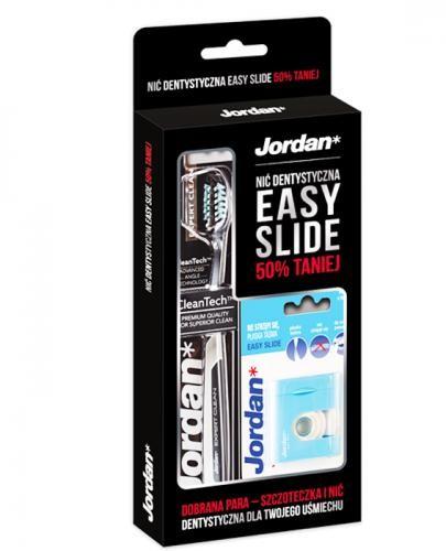ORKLA HEALTH JORDAN EXPERT CLEAN Szczoteczka do zębów + EASY SLIDE Nić dentystyczna 1 zestaw 9088742