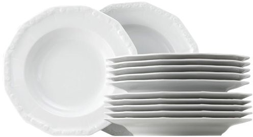 Rosenthal ROSENTHAL Maria serwis obiadowyq 12el - biały, zestaw, porcelana premium 10430  800001  18339