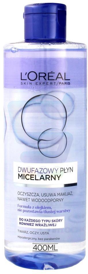 Loreal Skin Expert Płyn micelarny dwufazowy 400 ml