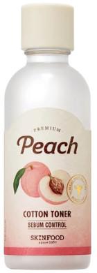 SKINFOOD SKINFOOD Peach cotton toner Normalizujący tonik do twarzy 180ml 51220-uniw