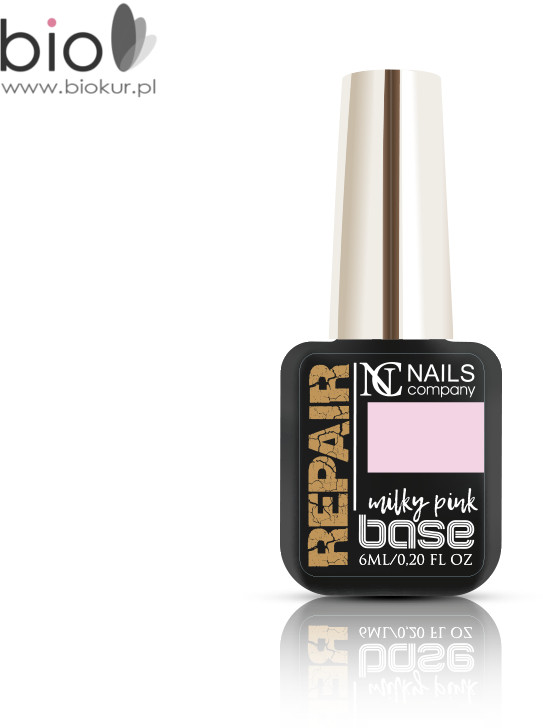 NAILS COMPANY NOWOŚĆ! Repair Base Milky Pink Nails Company 6 ml