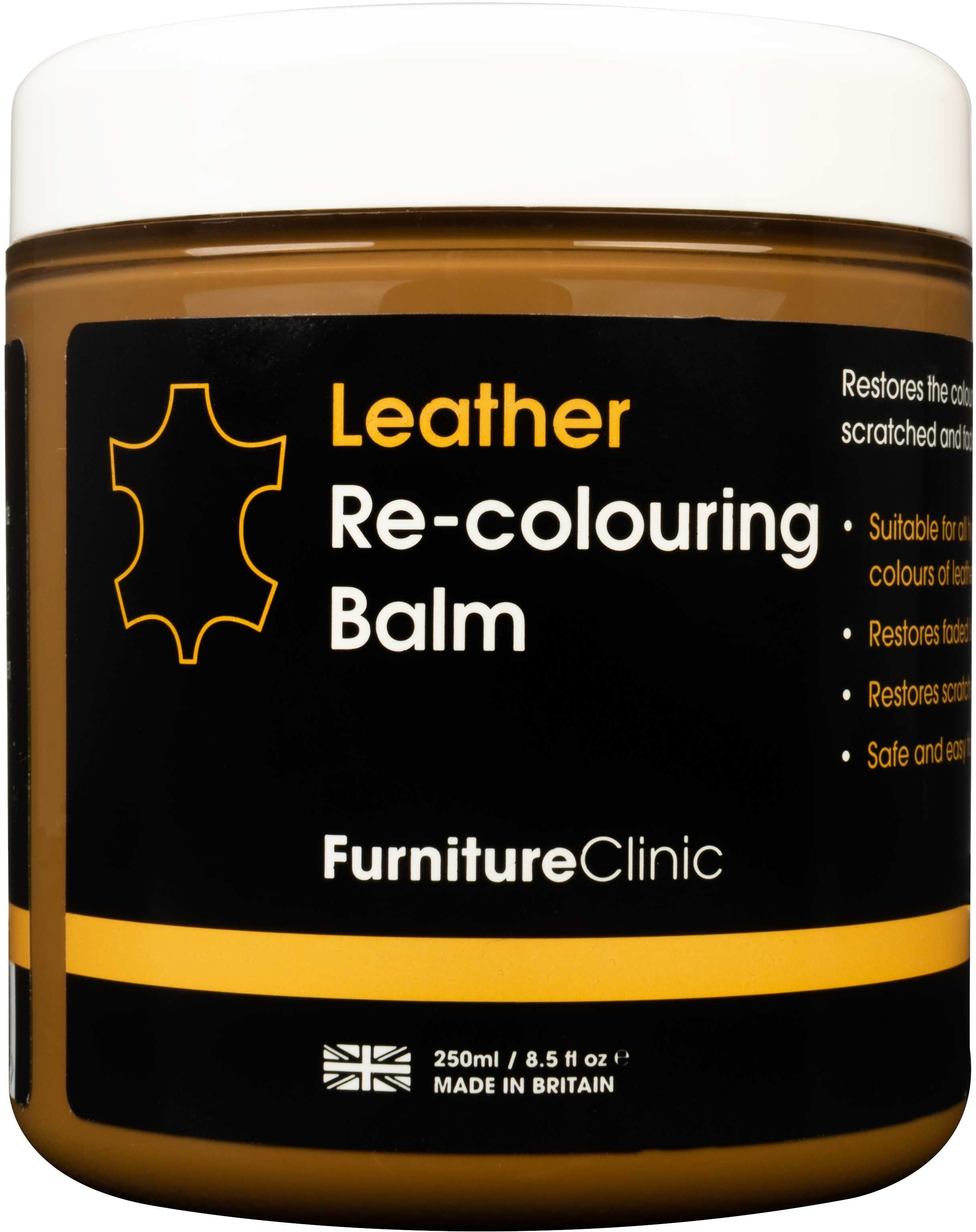 Furniture Clinic Leather Re-Colouring Balm balsam koloryzujący CAMEL 250ml FUR000012