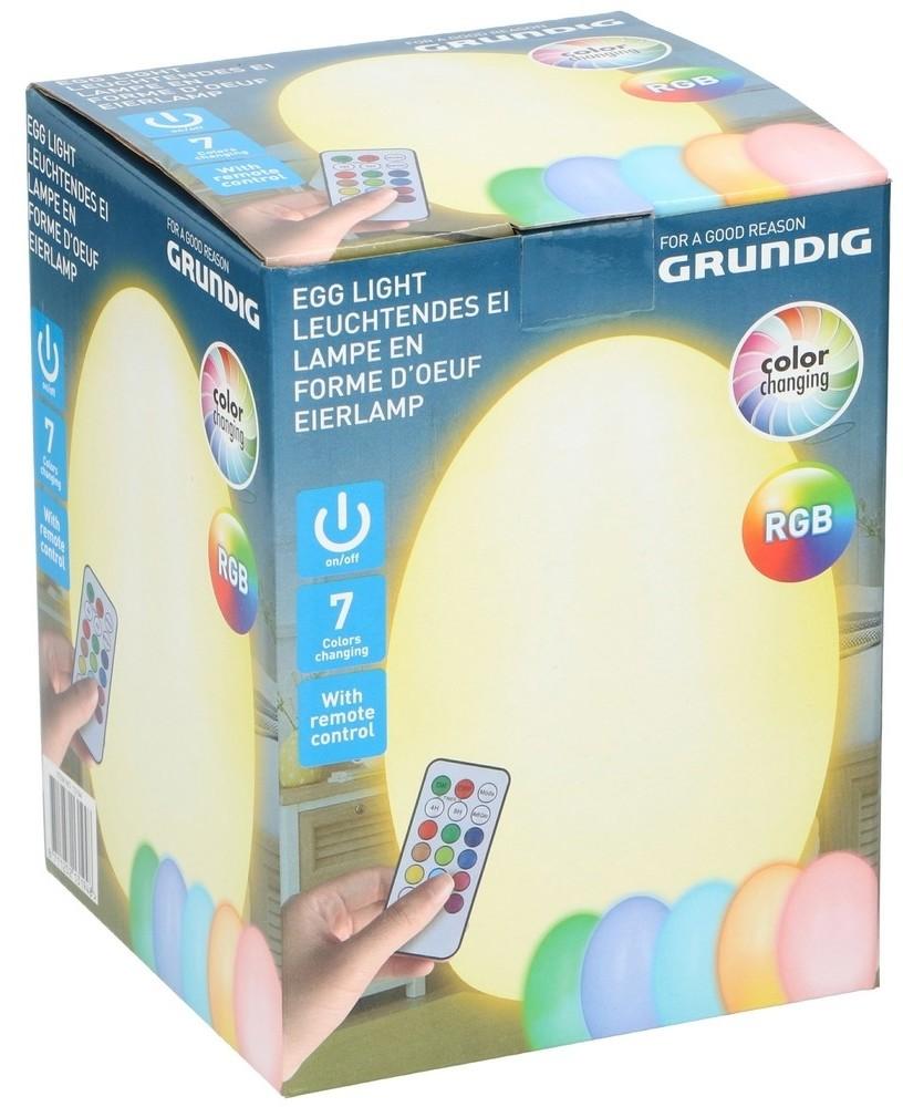 Grundig Grundig - LED RGB Dekoracyjne jajko ze zdalnym sterowaniem na baterie 3xAAA