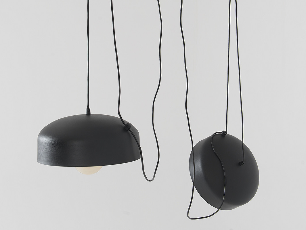 Customform Lampa wisząca POPO FLAT L 2 czarny LP011POPOFLL2-02
