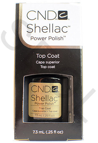 CND Shellac Top Coat 7,3ml do lakieru hybrydowego 639370404011