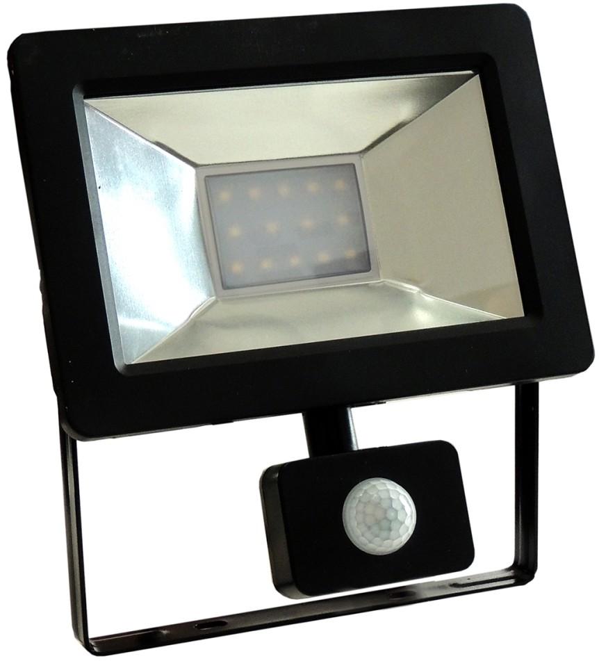 Wojnarowscy LED Reflektor z czujnikiem NOCTIS 2 SMD LED/10W/230V IP44 630lm czarny