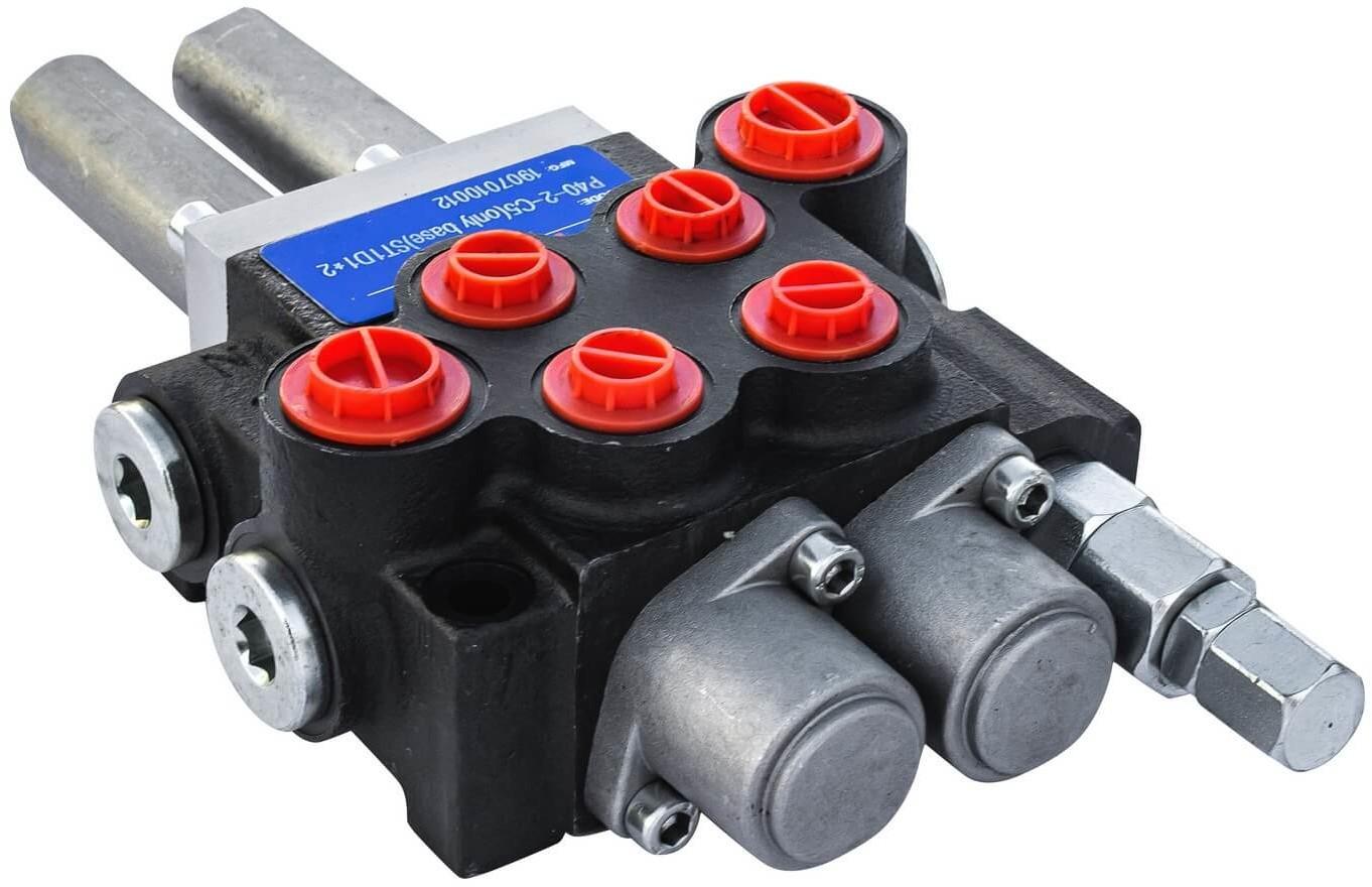 Rozdzielacz hydrauliczny P40 2 sekcyjny 40 L sterowany Joystickiem P40-2-C5OB