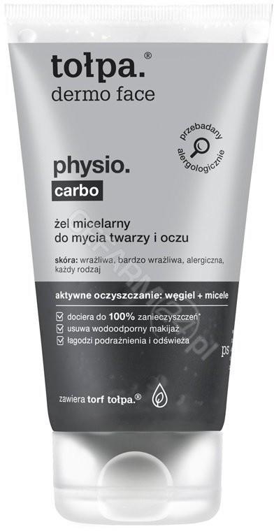 Tołpa TORF CORPORATION dermo face physio carbo żel micelarny do mycia twarzy i oczu 150 ml