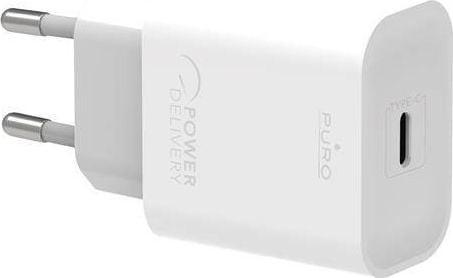 PURO Ładowarka Mini Fast Travel Charger Ładowarka sieciowa USB-C Power Delivery 20W biały PUR374WHT