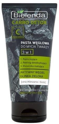 Bielenda Carbo Detox pasta węglowa do mycia twarzy dla cery mieszanej i tłustej 150g 46239-uniw