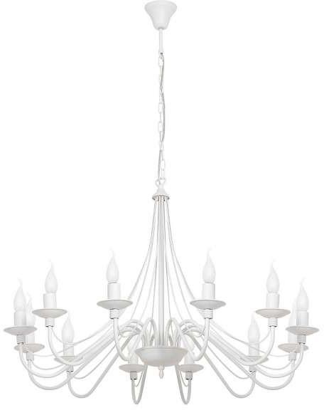Maria Teresa MLAMP Żyrandol LAMPA wisząca ADX 397R19 świecznikowa OPRAWA na łańcuchu zwis szara ADX 397R19