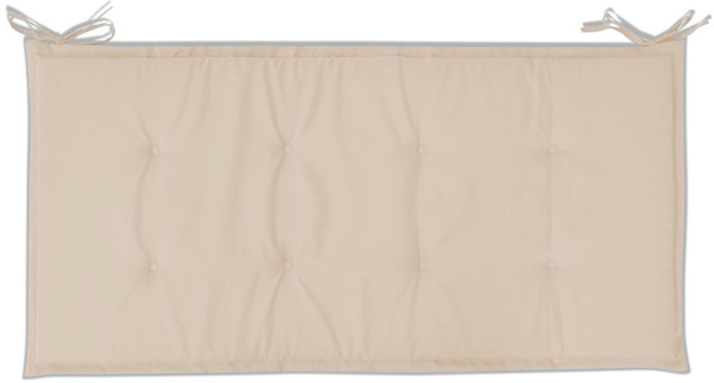 vidaXL Poduszka na ławkę ogrodową, kremowa, 100 x 50 3 cm