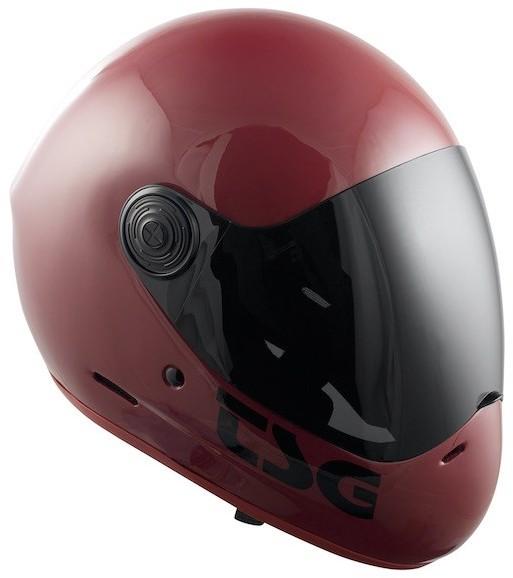 TSG kask pass solid color + bonus visor) gloss oxblood 262) rozmiar XL