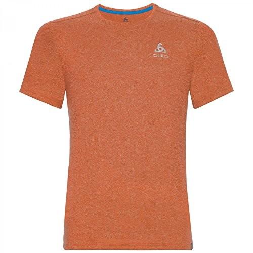 Odlo koszulka męska BL Crew Neck Aion Plain, pomarańczowa, xl 350372