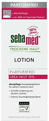 Sebamed sebamed suchej skóry parfuemfrei doraźnych Lotion ekstraktem Urea 10%, 400