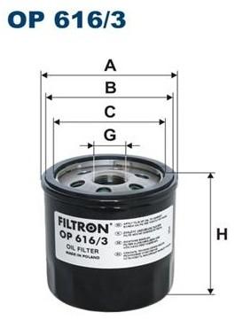 Filtron OP 616 FILTR OLEJU