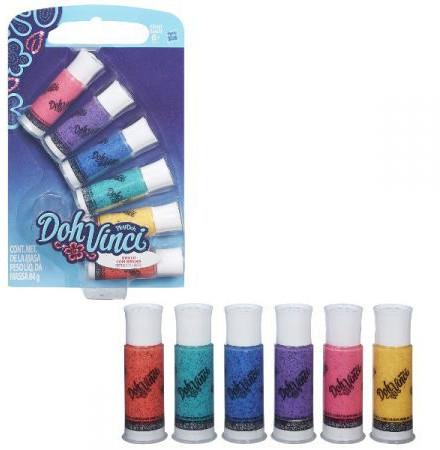 Play-Doh - DohVinci: 6 kolorów tub brokatowych