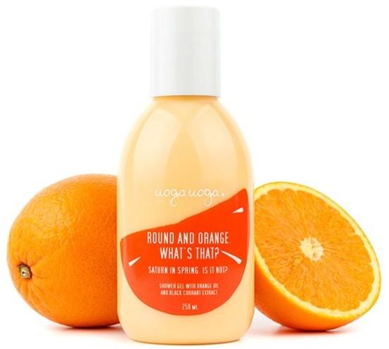 Uoga Uoga Uoga Uoga, żel pod prysznic z pomarańczą Round and Orange. What's that?, 250 ml