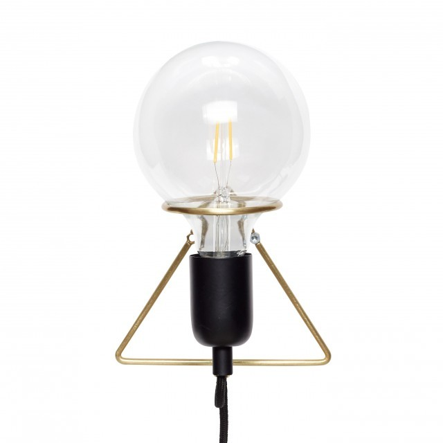 HUBSCH LAMPA ŚCIENNA WIRE ( różne kolory) HUBSCH czarny