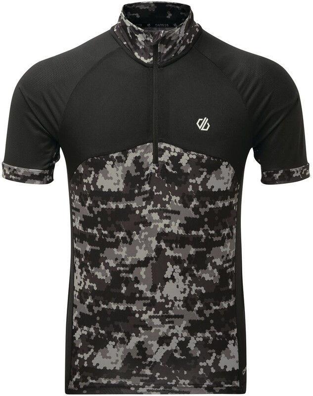 Dare 2b StayTheCourse Koszulka rowerowa z zamkiem błyskawicznym Mężczyźni, black/black XL 2020 Koszulki z krótkim rękawem DMT511-82680