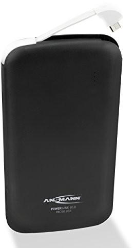 ANSMANN Ansmann Powerbank o pojemności USB i Typ C port oraz wskaźnik stanu LED/zewnętrzny dodatkowy akumulator idealny do Samsung iPhone iPad tablet Kindle w celu uzyskania dodatkowych urządzeń 1700-0093