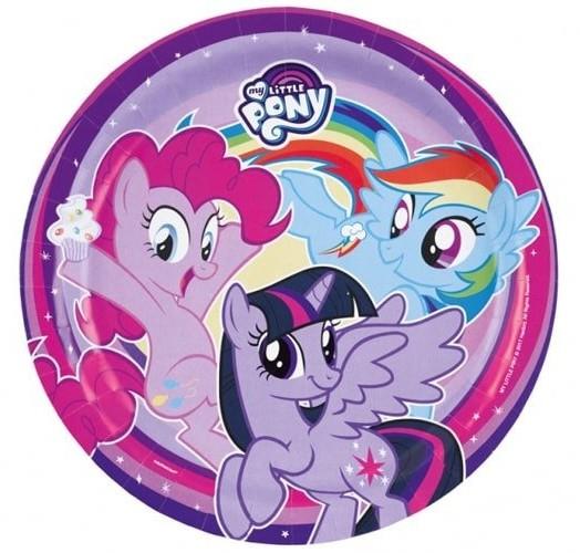 AMSCAN Talerzyki urodzinowe My Little Pony - 23 cm - 8 szt. 9902507